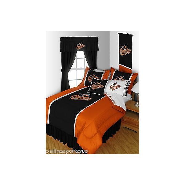 掛け布団 セット Baltimore Orioles Comforter Bedskirt Sham Valance Twin Full Queen King Size