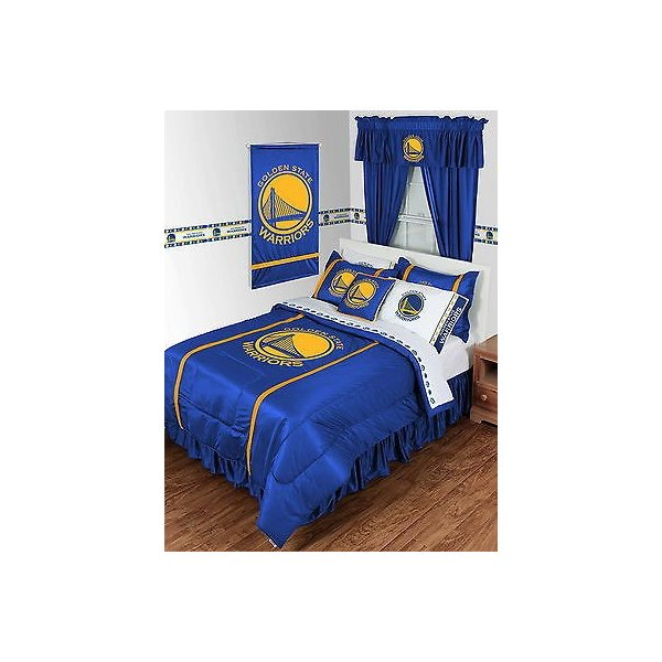 掛け布団 セット Golden State Warriors Comforter Bedskirt Sham Pillowcase Valance Twin to King