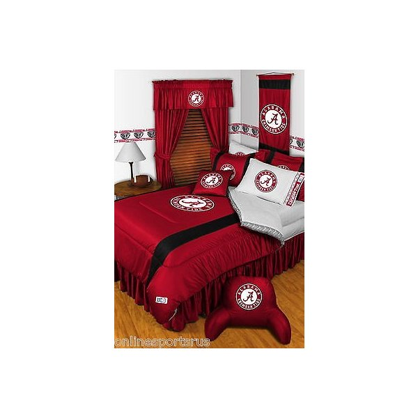 掛け布団 セット Alabama Crimson Tide Comforter Bedskirt Sham Curtains & Valance Twin to King
