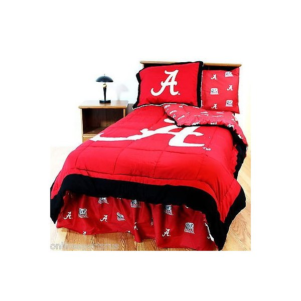 掛け布団 セット Alabama Crimson Tide Comforter Sham Bedskirt Pillowcase Valance Twin to King CC