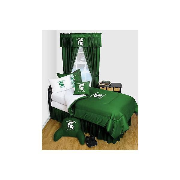 掛け布団 セット Michigan State Spartans Comforter Sham Pillowcase Twin Full Queen Size LR
