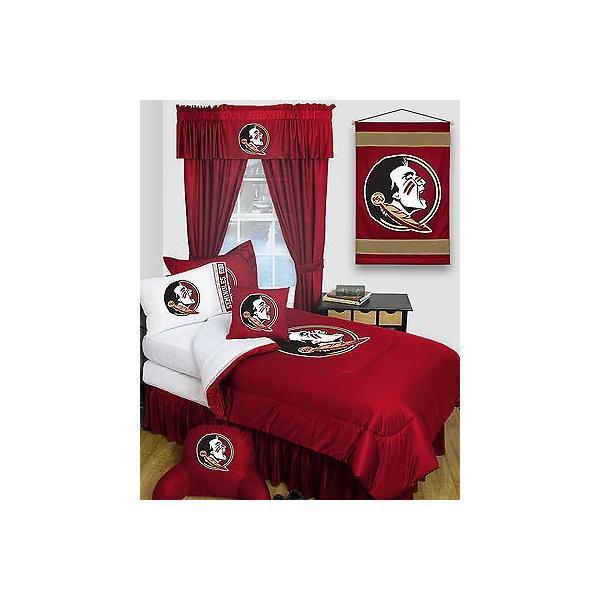 掛け布団 セット Florida Seminoles Comforter Sham & Pillowcase Twin Full Queen Size LR