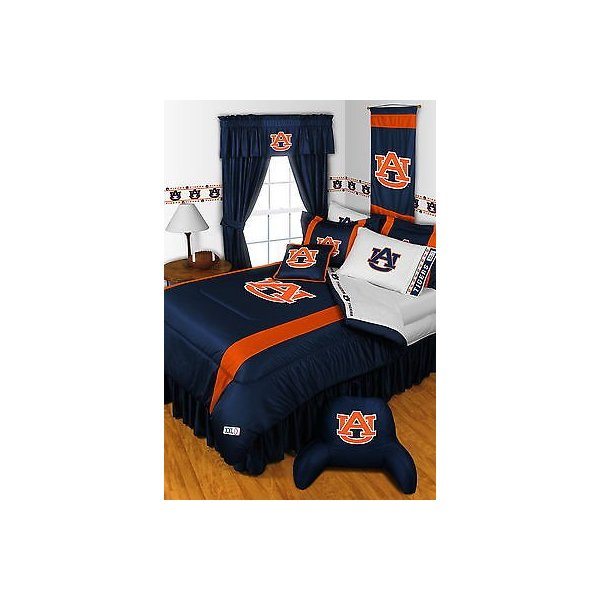 掛け布団 セット Auburn Tigers Comforter Bedskirt Sham Curtains Valance Twin to King Size