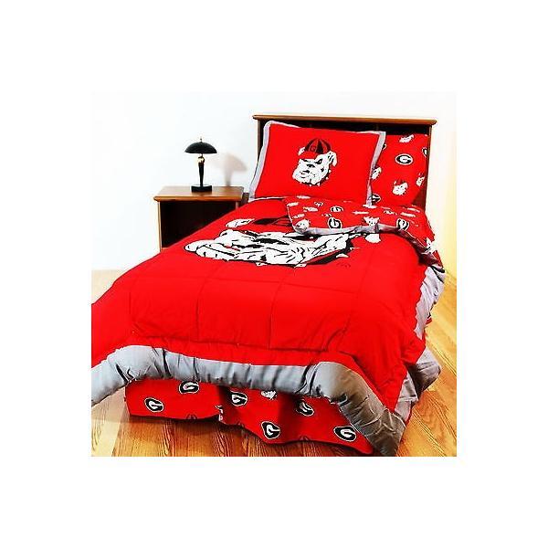 掛け布団 セット Georgia Bulldogs Comforter Sham and Pillowcase Twin Full Queen King Size CC
