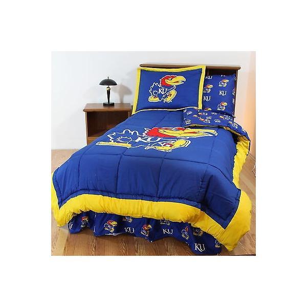 掛け布団 セット Kansas Jayhawks Bed in a Bag Twin Full Queen Size Comforter Set CC