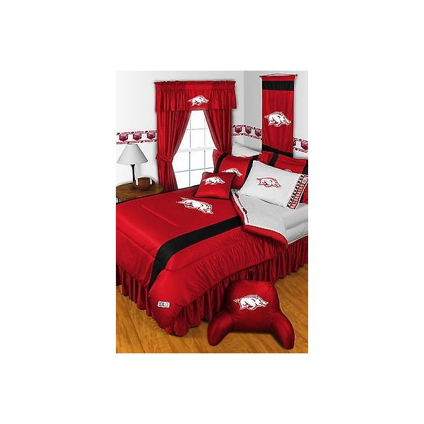 掛け布団 セット Arkansas Razorbacks Comforter Sham & Sheet Set Twin Full Queen King Size