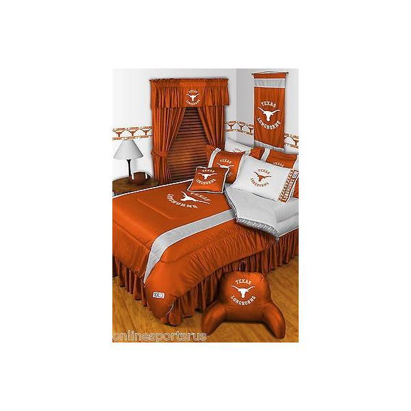 掛け布団 セット Texas Longhorns Comforter & Sham Twin Full Queen King Size