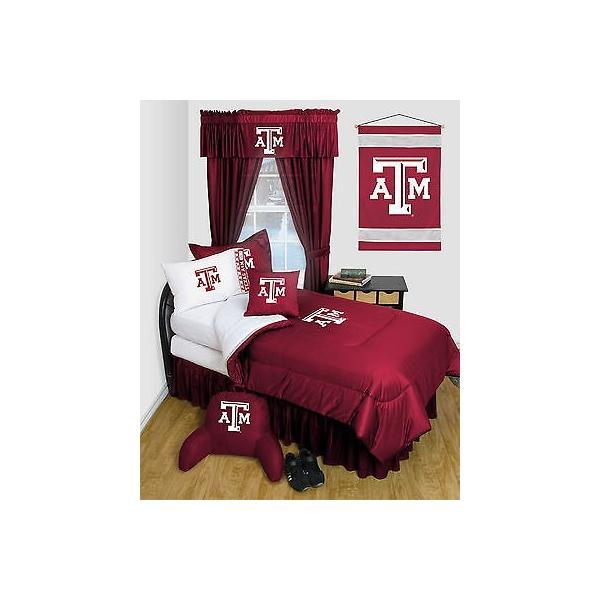 掛け布団 セット Texas A&M Aggies Comforter & Pillowcase Twin Full Queen Size LR