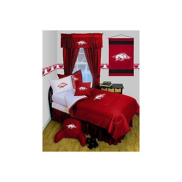 掛け布団 セット Arkansas Razorbacks Comforter & Pillowcase Twin Full Queen Size LR