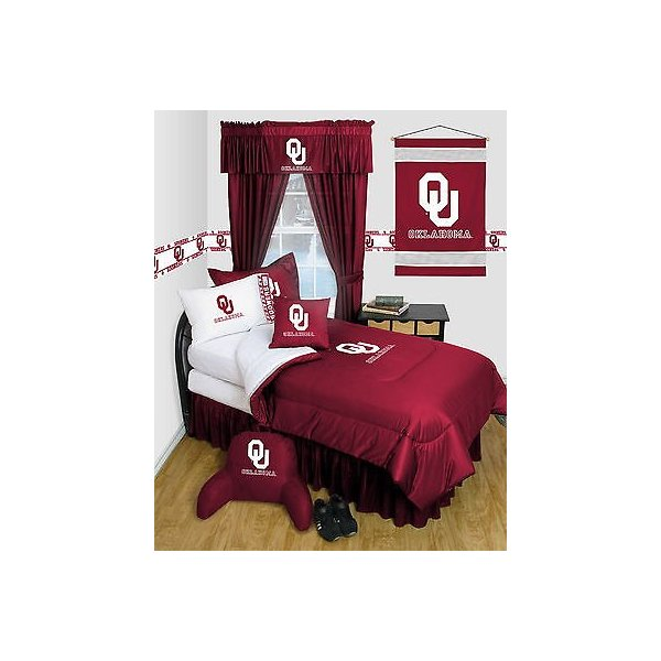 掛け布団 セット Oklahoma Sooners Comforter & Pillowcase Twin Full Queen Size LR