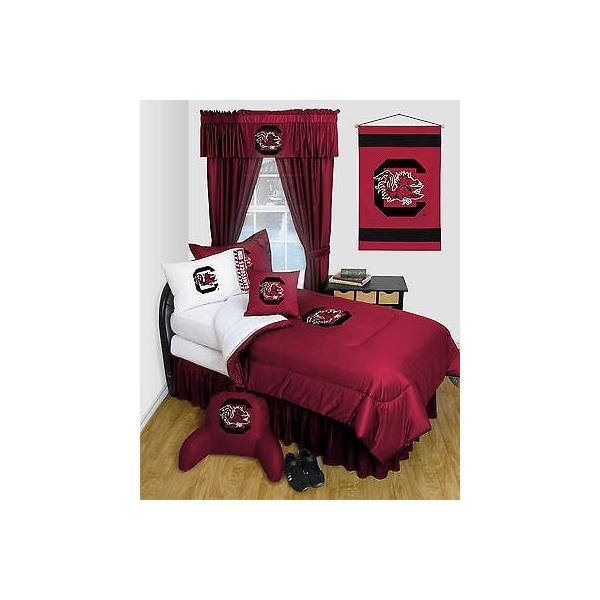 掛け布団 セット South Carolina Gamecocks Comforter & Pillowcase Twin Full Queen Size LR