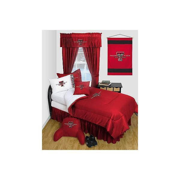 掛け布団 セット Texas Tech Raiders Comforter & Pillowcase Set Twin Full Queen Size LR