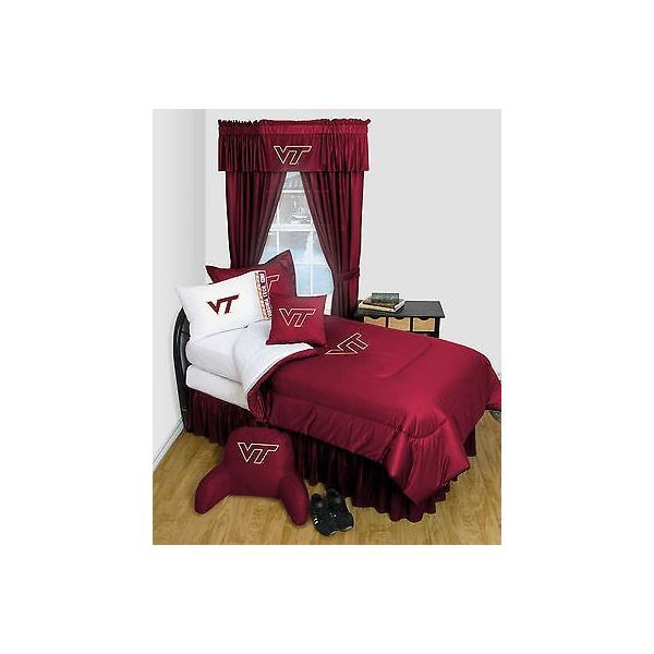 掛け布団 セット Virginia Tech Comforter & Pillowcase Twin Full Queen Size LR