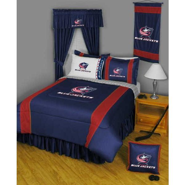 掛け布団 セット Columbus Blue Jackets Comforter and Pillowcase Twin Full Queen King