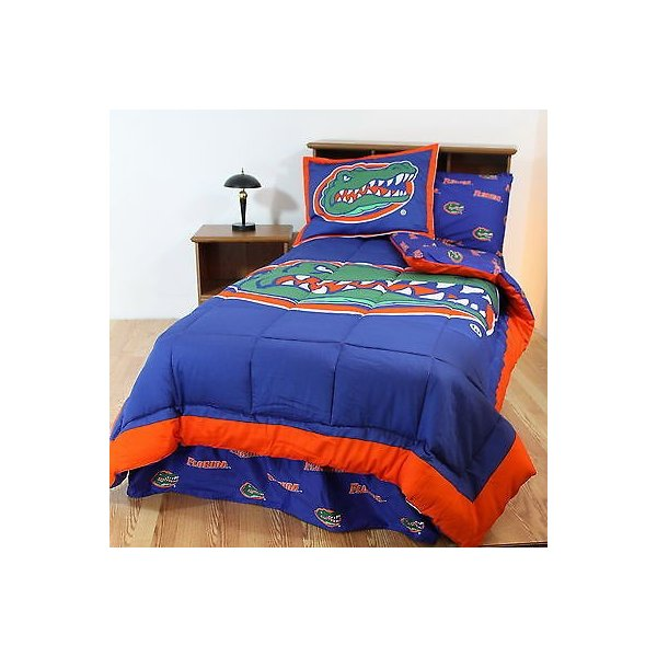 掛け布団 セット Florida Gators Comforter Sham Bedskirt Pillowcase & Valance Twin Full Queen Size