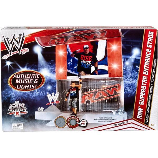 スポーツ マテル WWE RAW SUPERSTAR ENTRANCE STAGE PLAYSET KMART EXCLUSIVE RETIRED SET MUSIC CENA|pandastore