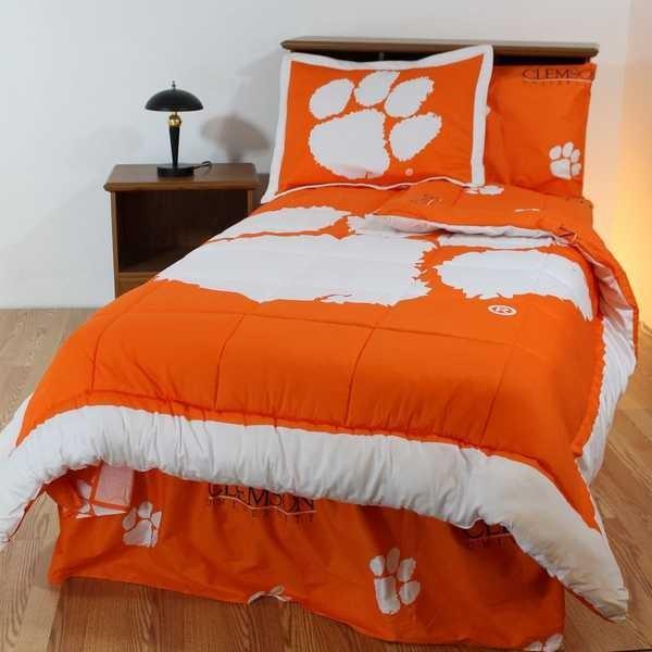 掛け布団 セット Clemson Tigers King Size Comforter & Sham Set Reversible CC