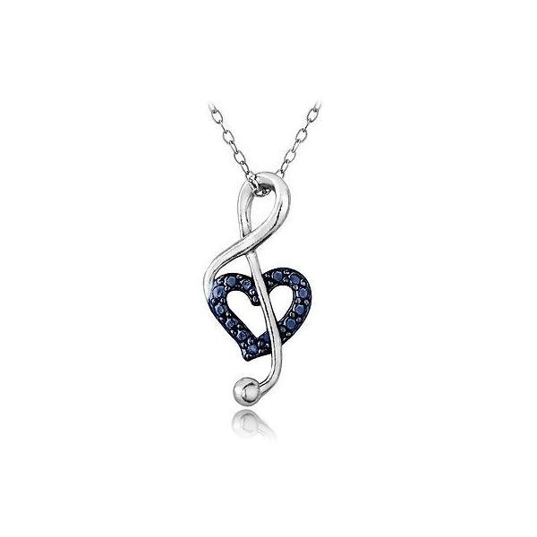 Mia Diamonds 925 Sterling Silver Solid Cubic Zirconia initial W Pendant