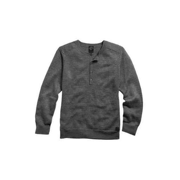 Men/'s Long Sleeve 3 Button Henley T Shirt Grey Made in USA S-M-L-XL-XXL NWT