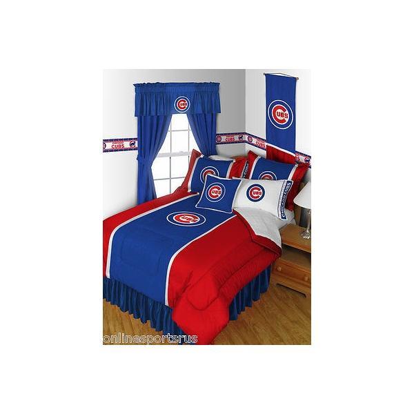 掛け布団 セット Chicago Cubs Comforter and Pillowcase Twin Full Queen King Size