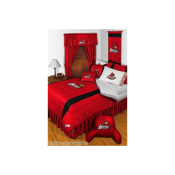 掛け布団 セット Louisville Cardinals Comforter Bedskirt Sham Valance Twin Full Queen King Size