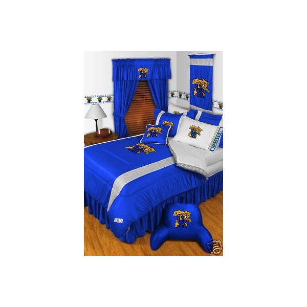 掛け布団 セット Kentucky Wildcats Comforter Bedskirt Sham & Valance Twin Full Queen King Size