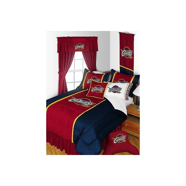 掛け布団 セット Cleveland Cavaliers Comforter Bedskirt Sham Pillowcase Valance Twin to King Size