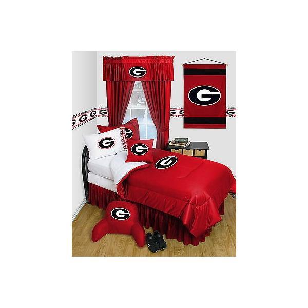 掛け布団 セット Georgia Bulldogs Comforter Sham & Pillowcase Set Twin Full Queen Size LR