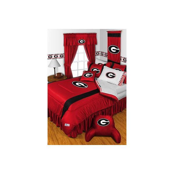 掛け布団 セット Georgia Bulldogs Comforter Sham Bedskirt Curtains Valance Twin to King Size