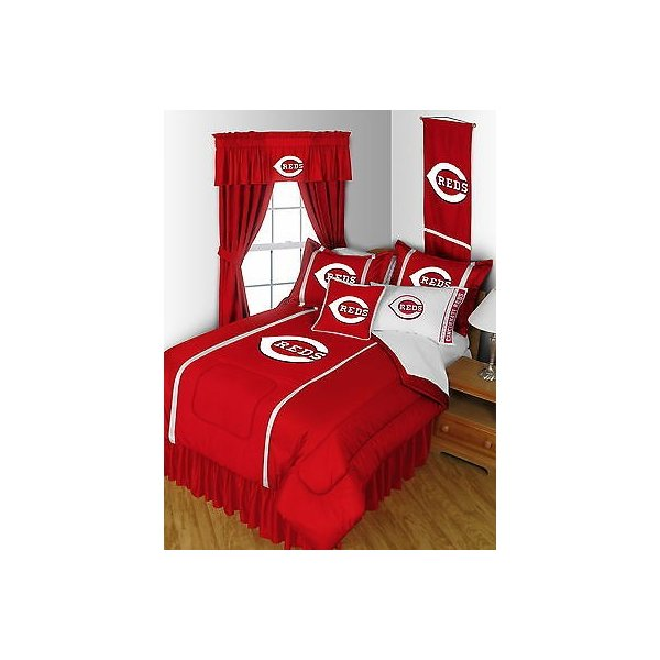 掛け布団 セット Cincinnati Reds Comforter & Pillowcase Twin Full Queen King Size
