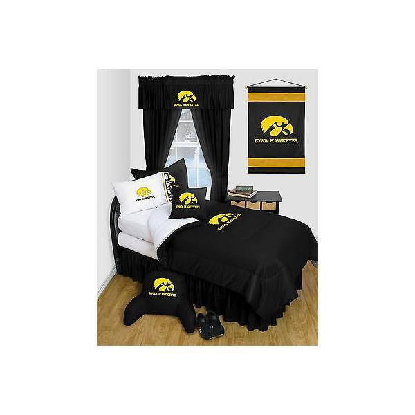掛け布団 セット Iowa Hawkeyes Comforter & Pillowcase Set Twin Full Queen Size LR