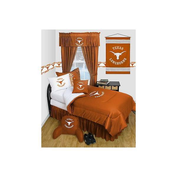 掛け布団 セット Texas Longhorns Comforter & Pillowcase Twin Full Queen Size LR