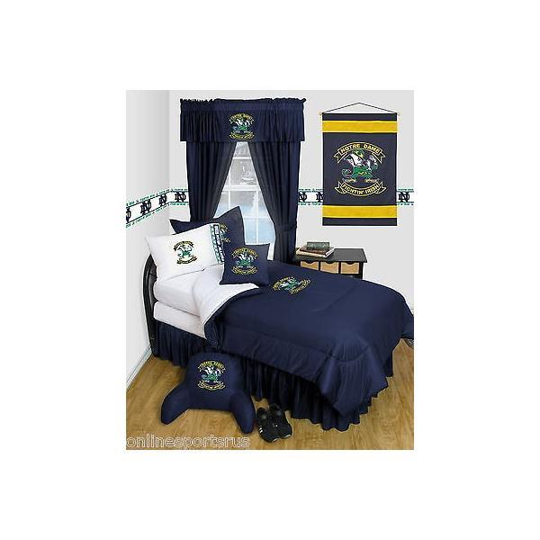 掛け布団 セット Notre Dame Fighting Irish Comforter & Pillowcase Twin Full Queen Size LR