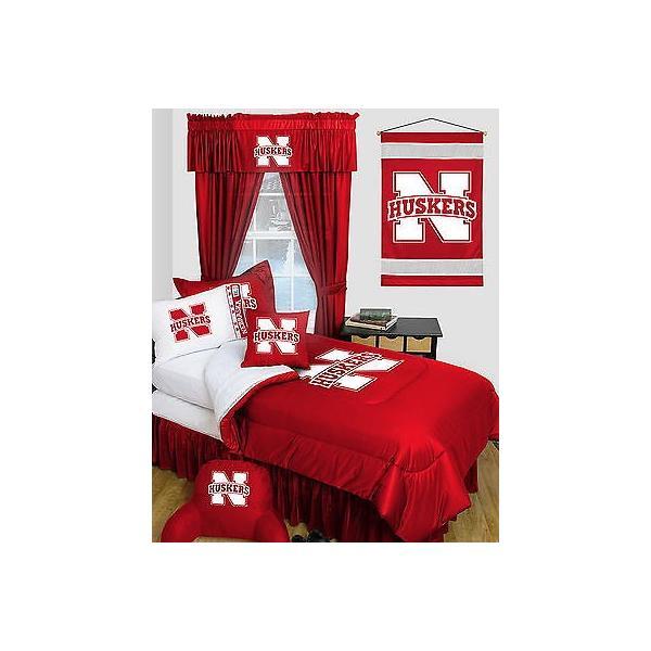 掛け布団 セット Nebraska Cornhuskers Comforter & Pillowcase Twin Full Queen Size LR