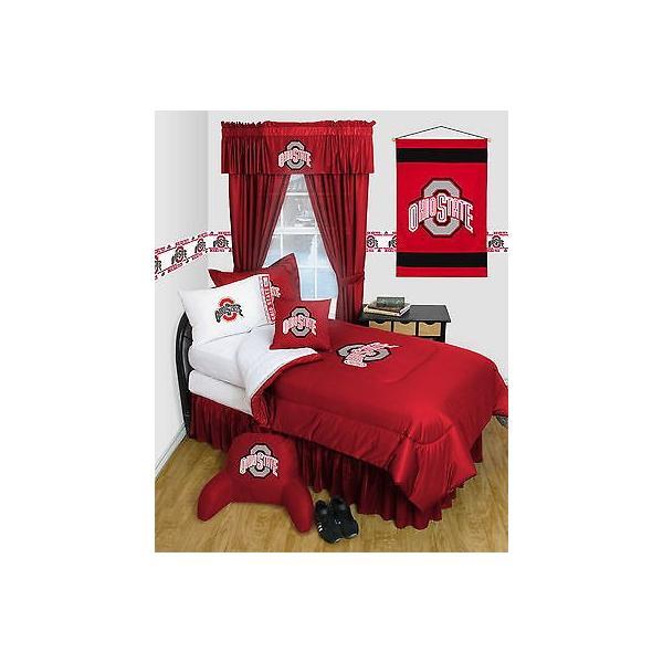 掛け布団 セット Ohio State Buckeyes Comforter & Pillowcase Twin Full Queen Size LR