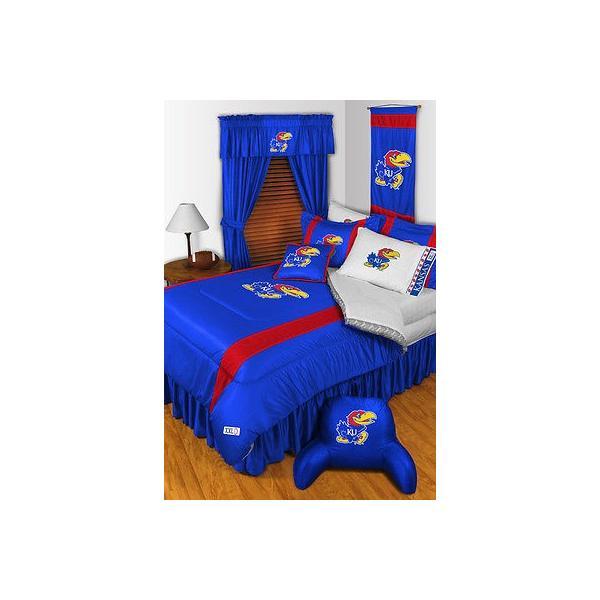 掛け布団 セット Kansas Jayhawks Comforter & Pillowcase Twin Full Queen King Size