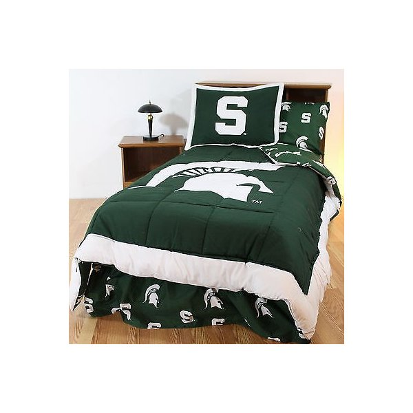 掛け布団 セット Michigan State Spartans Bed in a Bag Queen Size Comforter Set CC