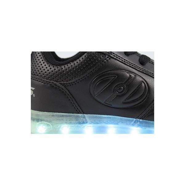 HEELYS PREMIUM 1 LO TRIPLE BLACK LIGHT UP ROLLER SKATE WHEELS BOYS GIRLS YOUTH