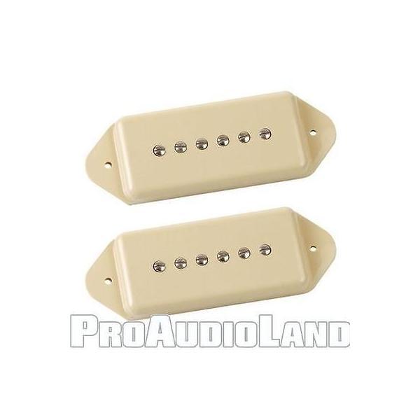 楽器 ギター パーツ アクセサリー リンディーフレーリン Lindy Fralin Short P90 Dogear Pickup Set CREAM with Free Fender Polish Kit NEW pandastore 02