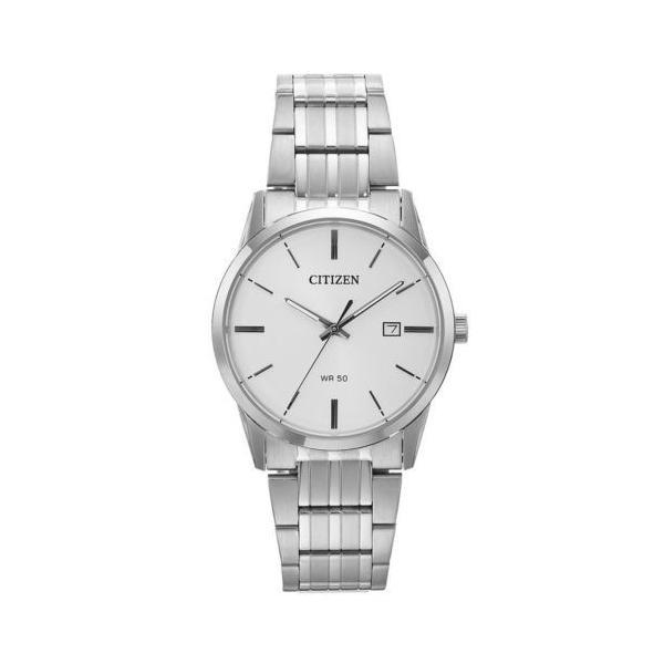 腕時計 シチズン Citizen BI5000-52A Men's Steel Bracelet White Dial Quartz Watch|pandastore