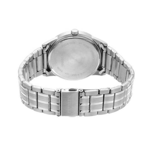 腕時計 シチズン Citizen BI5000-52A Men's Steel Bracelet White Dial Quartz Watch|pandastore|02