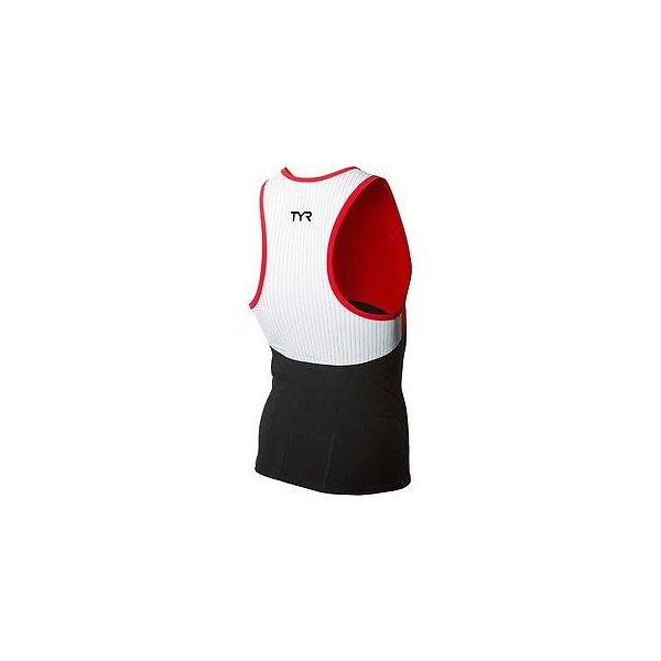 Mens TYR Carbon Mens Tri Tank Black//Red S