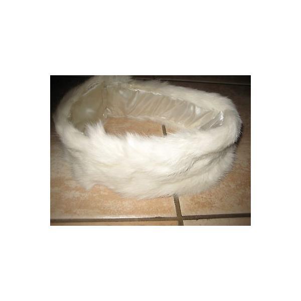 海外セレクション 帽子ホワイト Rabbit Fur Headバンド Ear Neck Warmer Beautiful