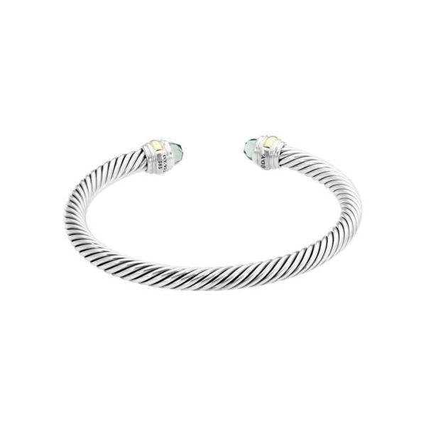 ブレスレット デヴィッドヤーマン David Yurman Cable Classic Prasiolite & Gold Bracelet B12381S4Apl