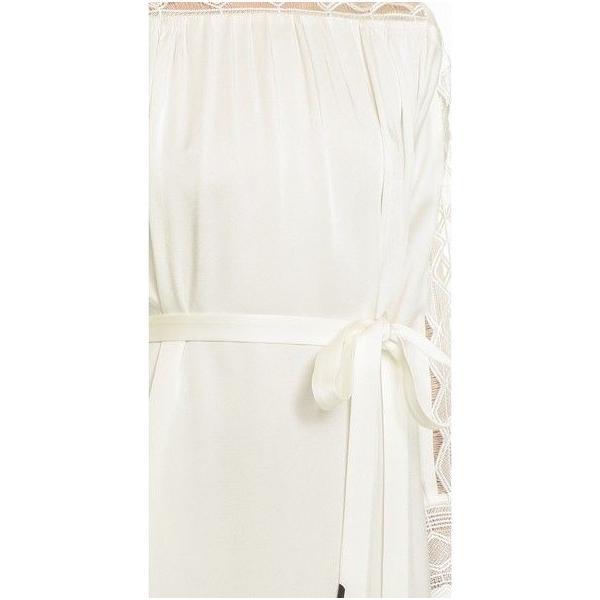 ワンピース マイエット Maiyet  Boat Neck Belted Mini Dress Ivory Lace  Off white 36 38 42|pandastore|02
