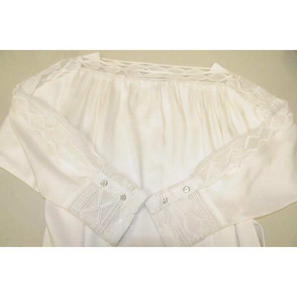 ワンピース マイエット Maiyet  Boat Neck Belted Mini Dress Ivory Lace  Off white 36 38 42|pandastore|03