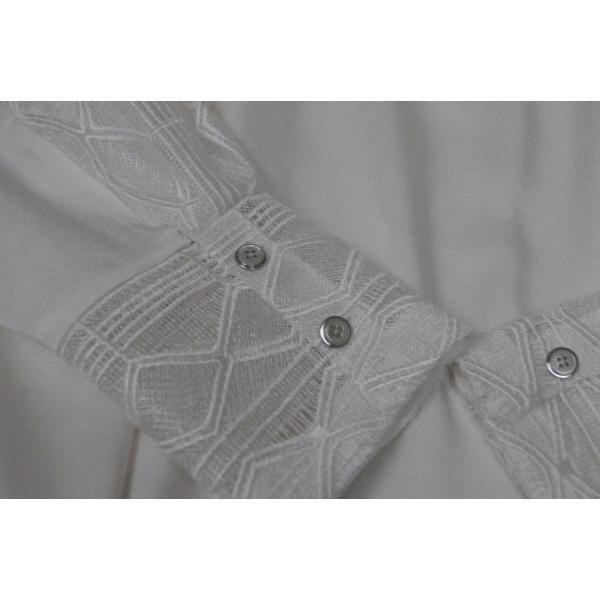 ワンピース マイエット Maiyet  Boat Neck Belted Mini Dress Ivory Lace  Off white 36 38 42|pandastore|05
