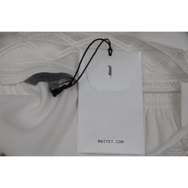 ワンピース マイエット Maiyet  Boat Neck Belted Mini Dress Ivory Lace  Off white 36 38 42|pandastore|07