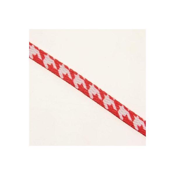 靴ひも ユニセックス スタークスレース Starks Laces - Houndstooth Red Shoelaces shoestrings 0007-45Inch-1S