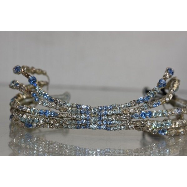 ヘア ヘッドジュエリー ジェニーパッカム  Jenny Packham Azore Hairdresser Headband IV Crystals Blue Bridal Wedding